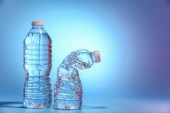Flaska två av vatten Arkivfoton