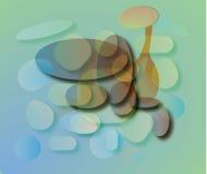 Flaska under vatten vektor illustrationer