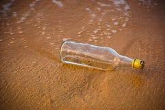 Flaska utan meddelande Arkivfoton