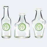 flaskan återanvänder vektor illustrationer