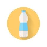 Flaskan av nytt mjölkar framlänges stilvektorillustrationen Royaltyfri Fotografi