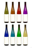 flaskan colors olik wine Fotografering för Bildbyråer