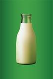 flaskan mjölkar Arkivbilder