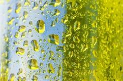 flaskan tappar texturvatten Royaltyfri Foto