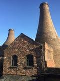 Flaskbrännugnar av krukmakerierna II arkivbild