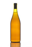 flaskchardonnay wine Royaltyfria Bilder