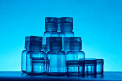 flaskexponeringsglas Arkivfoton