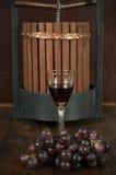 flaskexponeringsglas ställde in vit wine sju sex Arkivfoton
