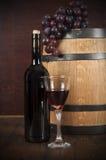 flaskexponeringsglas ställde in vit wine sju sex Royaltyfri Fotografi
