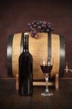 flaskexponeringsglas ställde in vit wine sju sex Fotografering för Bildbyråer