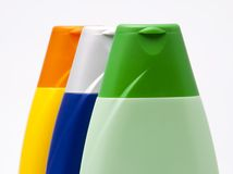 flaskfärgplast- hycklar Royaltyfri Fotografi