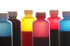 flaskfärgpulver Arkivbild
