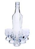 flaskglassesvstarksprit Arkivfoto
