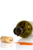flaskkork dess sidowine Arkivfoto