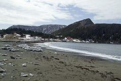 Flaskliten vik, fjärd av öar Newfoundland Arkivfoton