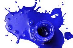 flaskmålarfärg Arkivfoton