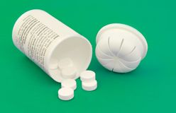 flaskmedicinpill Arkivbilder