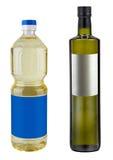 Flaskmellanrum av ren oliv eller havre eller mutter eller solros Royaltyfri Foto