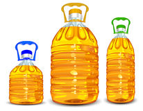 flaskolja royaltyfri illustrationer