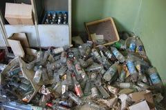 Flaskor av alkohol Arkivfoto