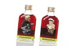 Flaskor av hård starksprit, närbild Royaltyfri Fotografi
