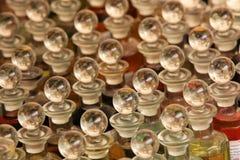 Flaskor av parfymerade oljor Royaltyfria Foton