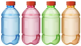 Flaskor av säkert dricksvatten Royaltyfri Foto