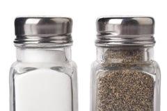 Flaskor av salt och peppar Arkivbild