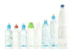 Flaskor av vatten Fotografering för Bildbyråer