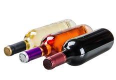 Flaskor av vin av olika typer Royaltyfria Bilder