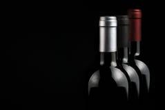 Flaskor av wine Arkivfoton