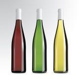 Flaskor av wine och champagne Arkivfoton
