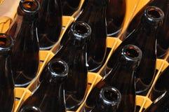 flaskor case tomt royaltyfria bilder