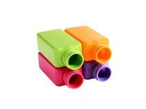 flaskor färgade mång- Arkivbild