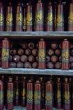 Flaskor för Riga svartbalsam Arkivbilder