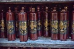 Flaskor för Riga svartbalsam Arkivfoton