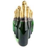 Flaskor för Sparkling wine Arkivfoto