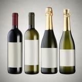flaskor inställd wine Royaltyfri Bild