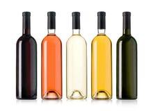flaskor inställd wine Arkivfoton