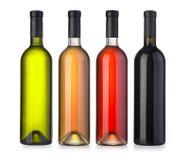 flaskor inställd wine Arkivbild