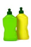 flaskor isolerad emballage plast- Royaltyfri Fotografi