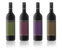 flaskor isolerad wine Royaltyfri Bild