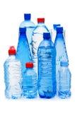 flaskor isolerat vatten Fotografering för Bildbyråer