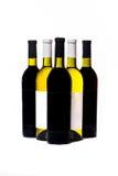 Flaskor med wine Royaltyfri Fotografi