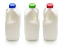 flaskor mjölkar Royaltyfria Bilder