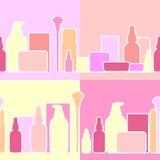 Flaskor och krämer, illustration stock illustrationer