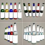 flaskor planlägger emballage Royaltyfri Foto