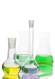 Flaskor som isoleras på vit bakgrund Arkivfoton