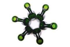 flaskor tömmer wine royaltyfri foto