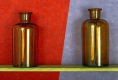 flaskor två Arkivfoton